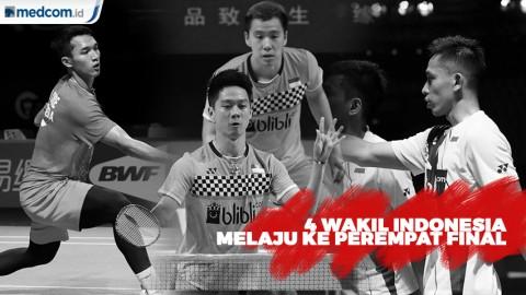 4 Wakil Indonesia Melaju ke Perempat Final Fuzhou China Open 2019