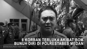 6 Korban Terluka Akibat Bom Bunuh Diri di Polrestabes Medan