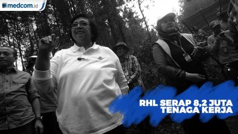 206 ribu Hektare Rehabilitasi Hutan dan Lahan Serap 8,2 Juta Tenaga Kerja