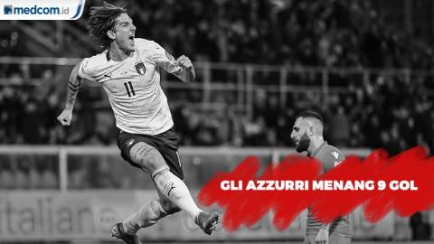 Pesta 9 Gol, Italia Sapu Bersih 10 Kemenangan