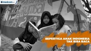 Sepertiga Anak Indonesia Tak Bisa Baca dan Pahami Cerita Sederhana