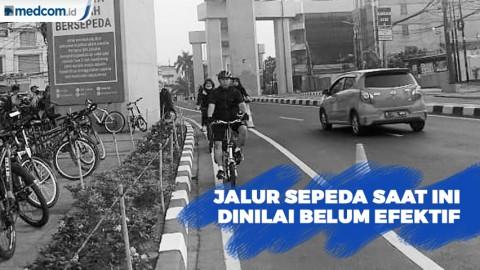 Jalur Sepeda Saat Ini Dinilai Belum Efektif