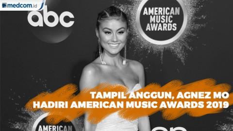 Tampil Anggun, Agnez Mo Hadiri American Music Awards 2019