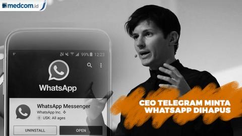 CEO Telegram Minta WhatsApp Dihapus