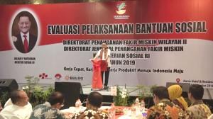 Mensos Kunjungi Rapat Evaluasi BPNT Wilayah II di Bali