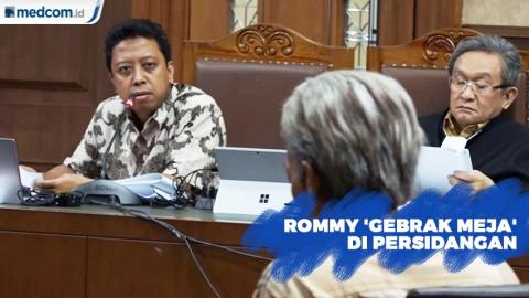 Rommy 'Gebrak Meja' di Persidangan Karena Merasa Dibohongi Sepupunya