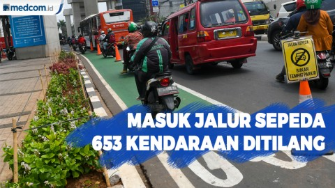 Masuk Jalur Sepeda, 653 Kendaraan Ditilang