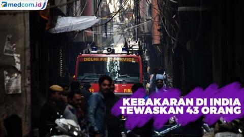 43 Orang Tewas Akibat Kebakaran di India