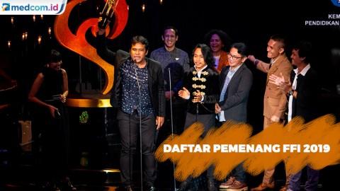 Daftar Lengkap Pemenang Piala Citra FFI 2019