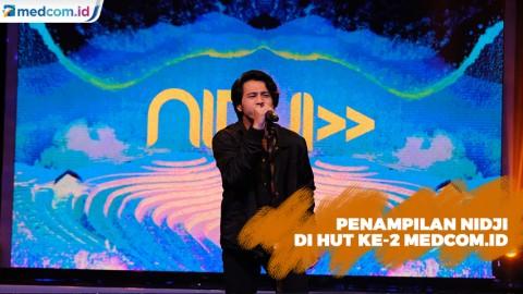 Nidji Bawakan Lagu Laskar Pelangi di HUT Ke-2 Medcom.id
