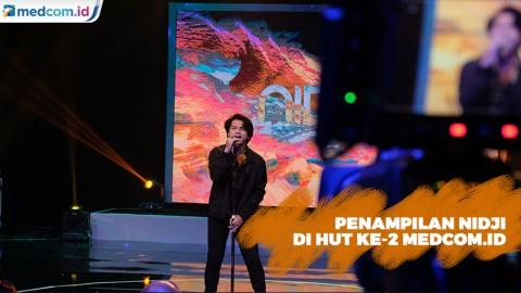Nidji Bawakan Lagu Cinta & Portal di HUT Ke-2 Medcom.id