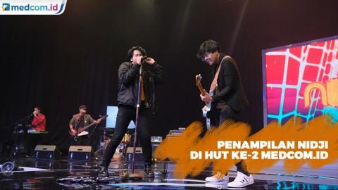 Nidji Bawakan Lagu Disco Lazy Time di HUT Ke-2 Medcom.id