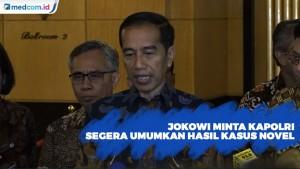 Jokowi Minta Kapolri Segera Umumkan Hasil Kasus Novel
