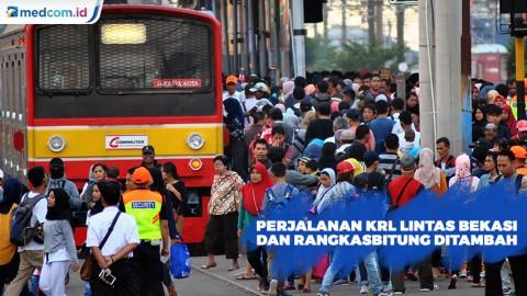 Perjalanan KRL Lintas Bekasi dan Rangkasbitung Ditambah