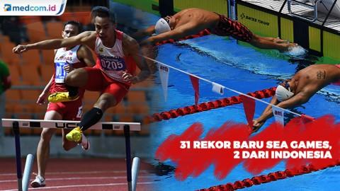 31 Rekor Pecah di Cabor Renang dan Atletik, 2 dari Atlet Indonesia