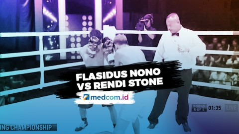 Usai Robohkan Rendi Stone, Flasidus Nono Menang TKO
