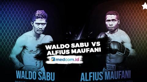 Lewat Pertarungan Berdarah, Waldo Sabu Berhasil Kalahkan Alfius Maufani