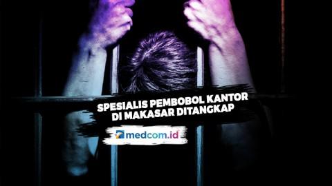 Pelaku Spesialis Pembobol Kantor di Makassar Ditangkap
