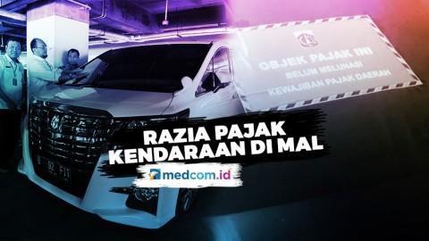 Razia Pajak di Mal, 72 Kendaraan Mewah Terjaring