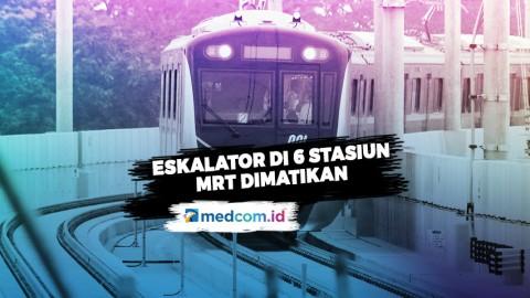 Eskalator di 6 Pintu Masuk Stasiun MRT Jakarta Dimatikan