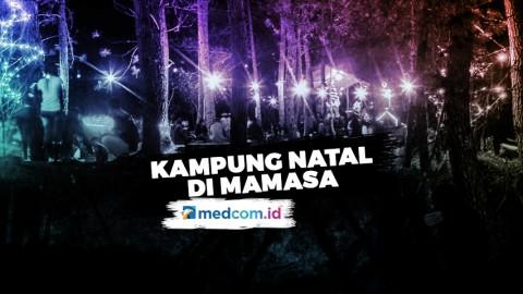 Sambut Nataru, Hutan Pinus Disulap Jadi Kampung Natal