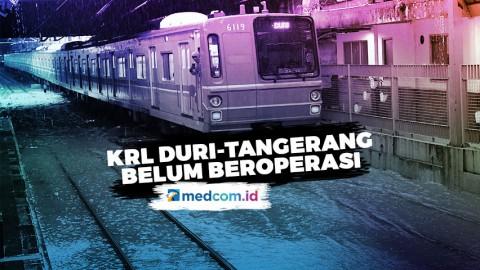 KRL Rute Duri-Tangerang PP Belum Beroperasi Normal