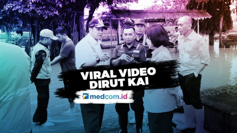 Viral Video Dirut KAI Saat Tinjau Lokasi Banjir