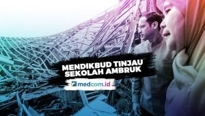 Mendikbud Tinjau Sekolah di Bogor yang Rusak Akibat Hujan