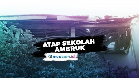 Dihantam Hujan Deras, Atap SD Negeri Palebon 1 Semarang Ambruk
