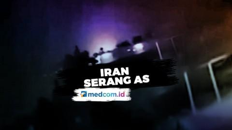 Serangan Balasan, Iran Luncurkan Rudal Ke Markas AS