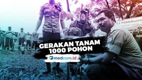 Polda Metro Jaya Lakukan Gerakan Tanam 1000 Pohon