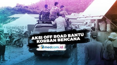 Komunitas Mobil Off Road Bantu Korban Bencana