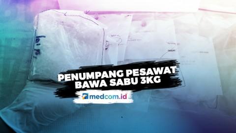 Penumpang Lion Air Selundupkan Sabu 3 Kg