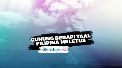 Gunung Berapi Taal di Filipina Meletus