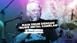 Menteri Basuki Mainkan Drum Aliran Musik Metal Gamelan