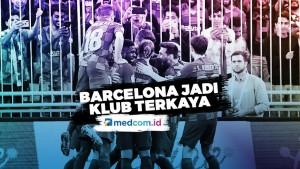 Pertama Kalinya Barcelona Jadi Klub Terkaya