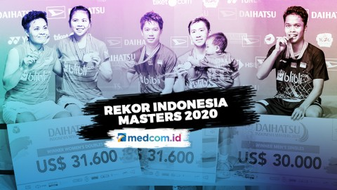 Indonesia Sukses Raih Juara Umum Indonesia Masters 2020