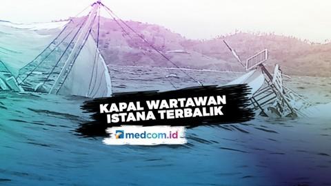 Kapal Rombongan Wartawan Istana Terbalik di Labuan Bajo