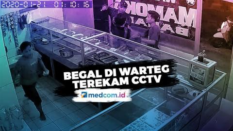 Aksi Begal di Warteg Terekam CCTV