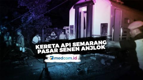 Roda Keluar dari Rel, Kereta Api Semarang - Pasar Senen Anjlok
