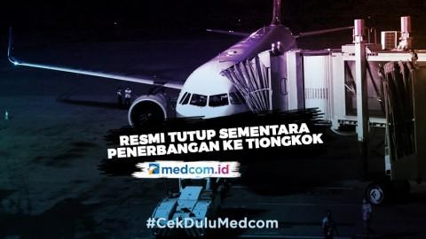 Mulai Hari Ini Bandara Soekarno-Hatta Hentikan Penerbangan dari dan ke Tiongkok