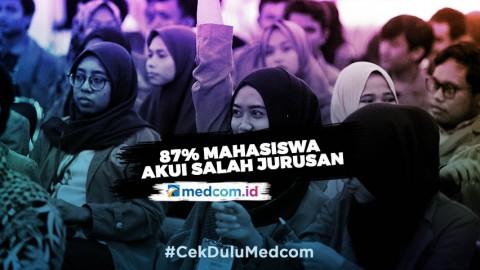 87% Mahasiswa Indonesia Terjebak Salah Jurusan