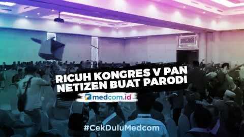 Kericuhan Kongres V PAN, Netizen Buat Video Parodi