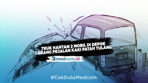 Kecelakaan Beruntun di Depok Akibatkan 1 Pejalan Kaki Patah Kaki