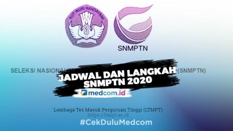 Jalur SNMPTN Dibuka, Ini Jadwal dan Cara Daftarnya