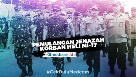 Panglima TNI Pimpin Pelepasan Empat Jenazah Korban Heli MI-17