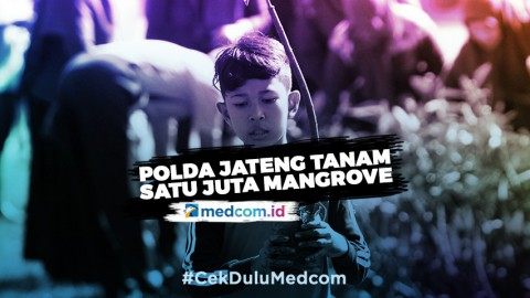 Polda Jateng Tanam Satu Juta Bibit Mangrove