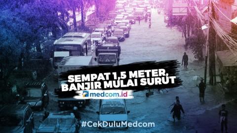 Sempat 1,5 Meter, Banjir Depan PRJ Mulai Surut