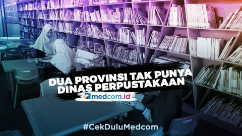 Dua Provinsi di Indonesia Tak Punya Dinas Perpustakaan