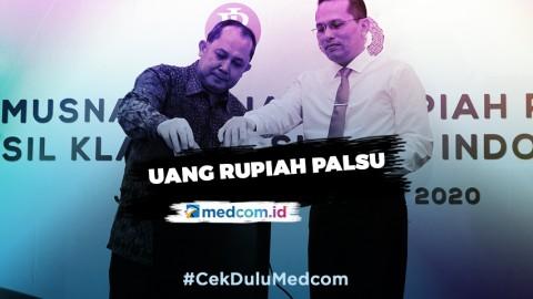 BI Bersama Bareskrim Polri Musnahkan 50.087 Lembar Uang Rupiah Palsu